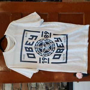 Obey Trademark Crew Neck T Shirt Size XL